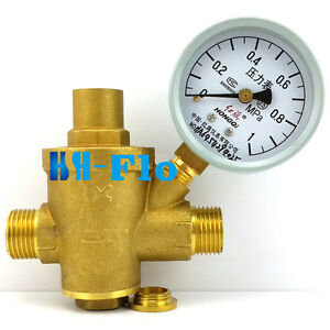 pressure maintaining valve brass water pressure regulator with pressure gauge. Black Bedroom Furniture Sets. Home Design Ideas