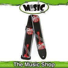 "New Gibson 2"" Woven Black & Red Guitar Strap with Gibson USA Logo - ASGG600"
