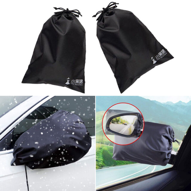 2Pcs Auto Motorcycle Car Rear View Side Mirrors Cover Bag For Snow Ice Winter