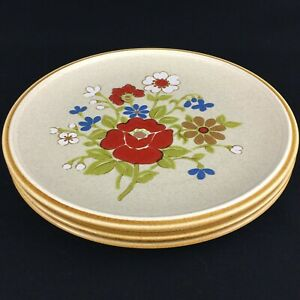 Set-of-3-VTG-Dinner-Plates-by-Premiere-Stoneware-Country-Casuals-F5800-Japan