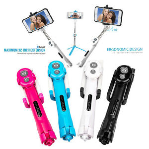 Bluetooth-Telecommande-Telescopique-Selfie-Stick-Telephone-Phone-GPS-Support-FR