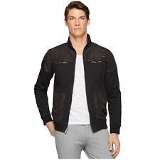 NWT Calvin Klein Men's Black Lifestyle Moto Jacket Coat SZ Small (MSRP $108)