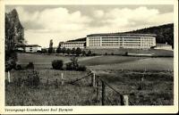Bad Pyrmont alte Postkarte 1956 gelaufen Blick auf das Versorgungs Krankenhaus