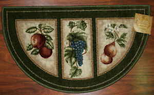 extraordinary washable kitchen rugs | 19X32 Slice Wedge Kitchen Rug Mat Green Washable Mats Rugs ...