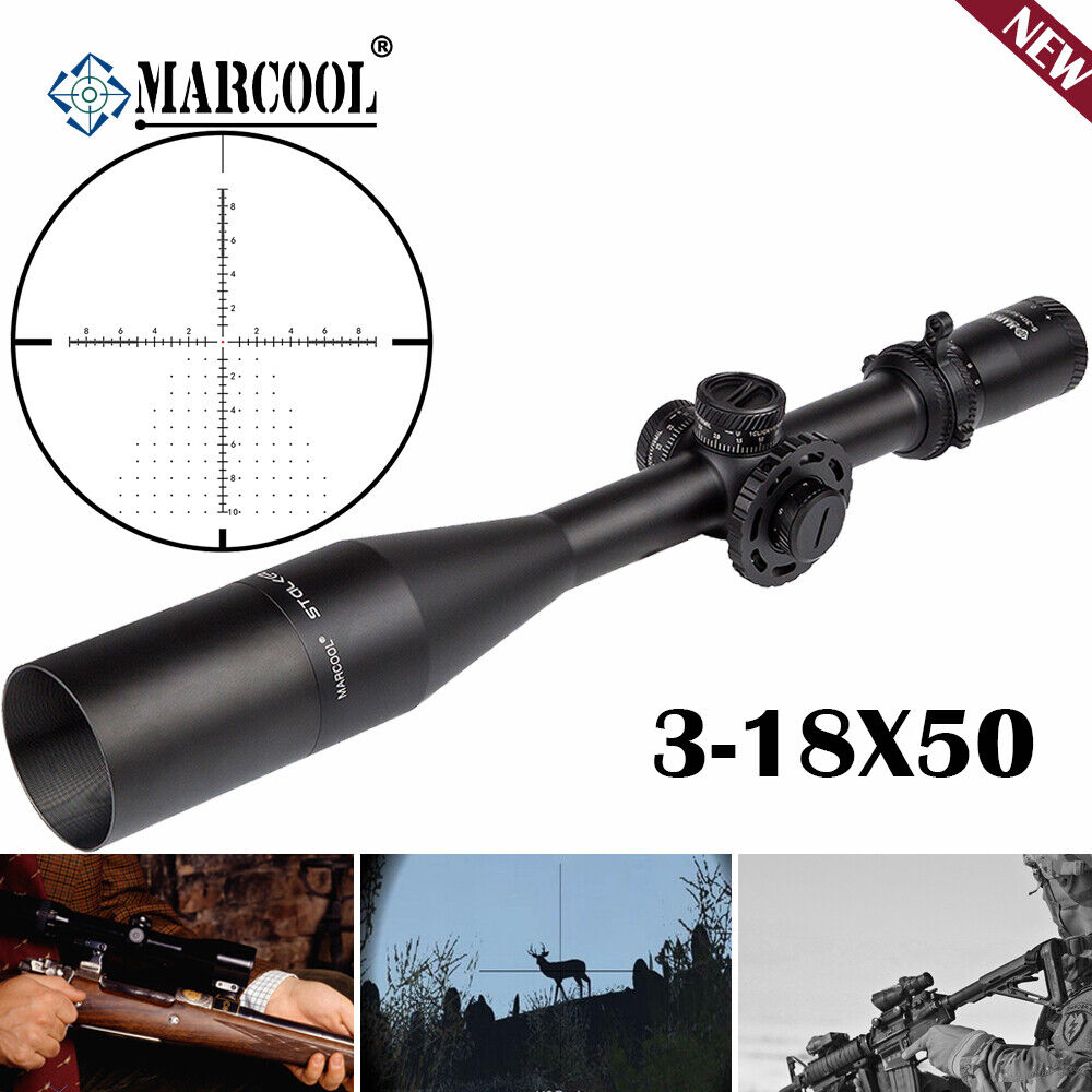 Nuevo marcool Stalker 3-18x50 caza rifle alcance largo alcance óptica FFP HD táctico