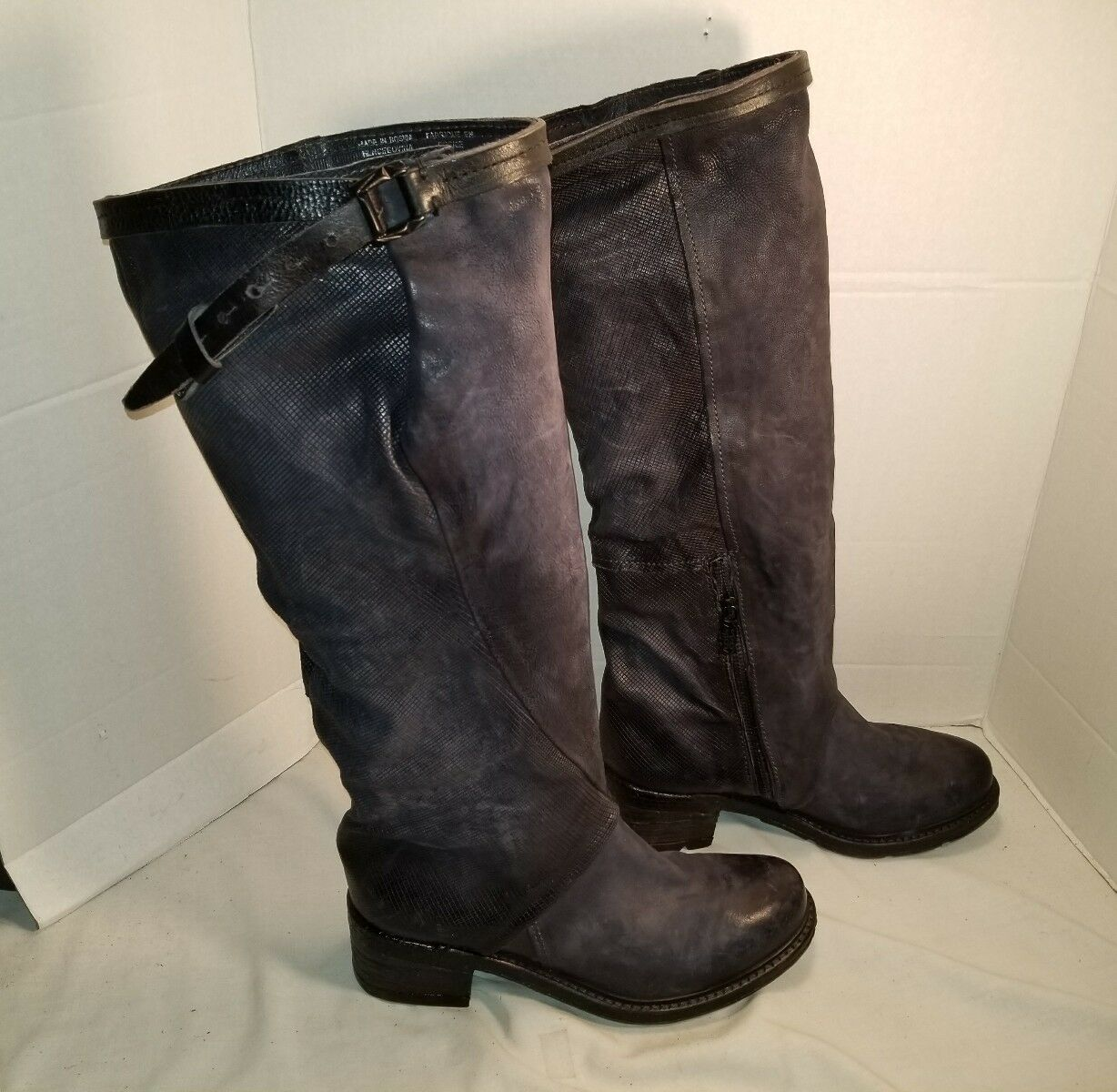 NEW AS 98 NOCTURNE noir LEATHER LEATHER LEATHER KNEE HIGH bottes US 10 EUR 40 20e826