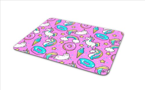 Awesome Pink Mouse Mat Pad Unicorn Donut Cat Doughnut Gift PC Computer #8332