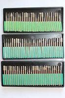 90pcs Diamond Burrs Bits Set For Dremel Tool 40/150/600 Grits W/ 1/8 Shank