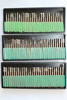 90pcs Diamond Burrs Bits Set For Dremel Tool 40/120/600 Grits W/ 1/8 Shank