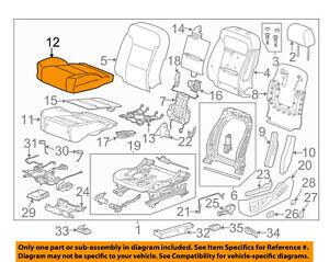 s l300 2014 2015 silverado sierra tan dune drivers leather seat bottom