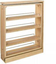 Rev-A-Shelf 432-BF-6C 6-Inch Cabinet Base Filler Pullout Organizer Rack Maple
