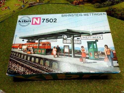 KIBRI 7502 Bahnsteig METTINGEN in OVP RARITÄT 2 x vorhanden Spur N C223