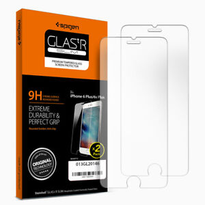 For-iPhone-6S-Plus-6-Plus-Spigen-Glass-Screen-Protector-Tempered-Glass-2PK-1PK