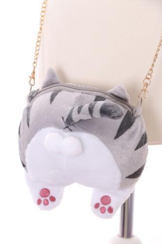 LB-81-2 Tiger Grau Kater Katze Cat Popo Hintern Plüsch Lolita Bag Harajuku Goth