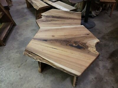 Swell Live Edge Butternut Slab Wood Coffee Table End Stands Bench Ibusinesslaw Wood Chair Design Ideas Ibusinesslaworg