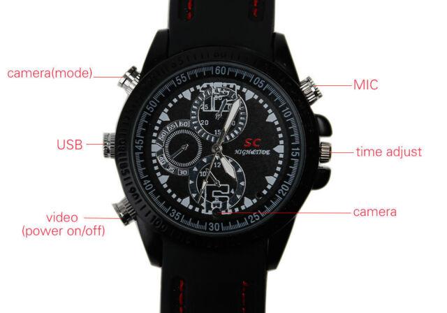 16GB Wristwatch with Hidden Mini Spy Video Camera Spy Hidden Cam Timer - A15
