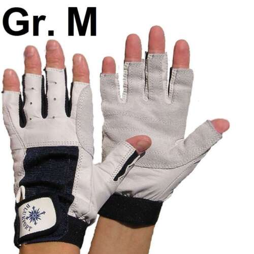 8 fingerlos Leder Rigging Montage M PROFI Rigger Gloves Roadie Handschuhe Gr