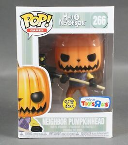 Funko-POP-Games-Hello-Neighbor-266-Neighbor-Pumpkinhead-Vinyl-Figure-1089W