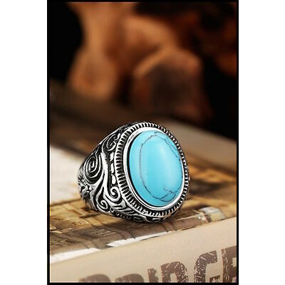 AA-018 Anillo Celta Piedra Turquesa Ring Celtic stone turquoise
