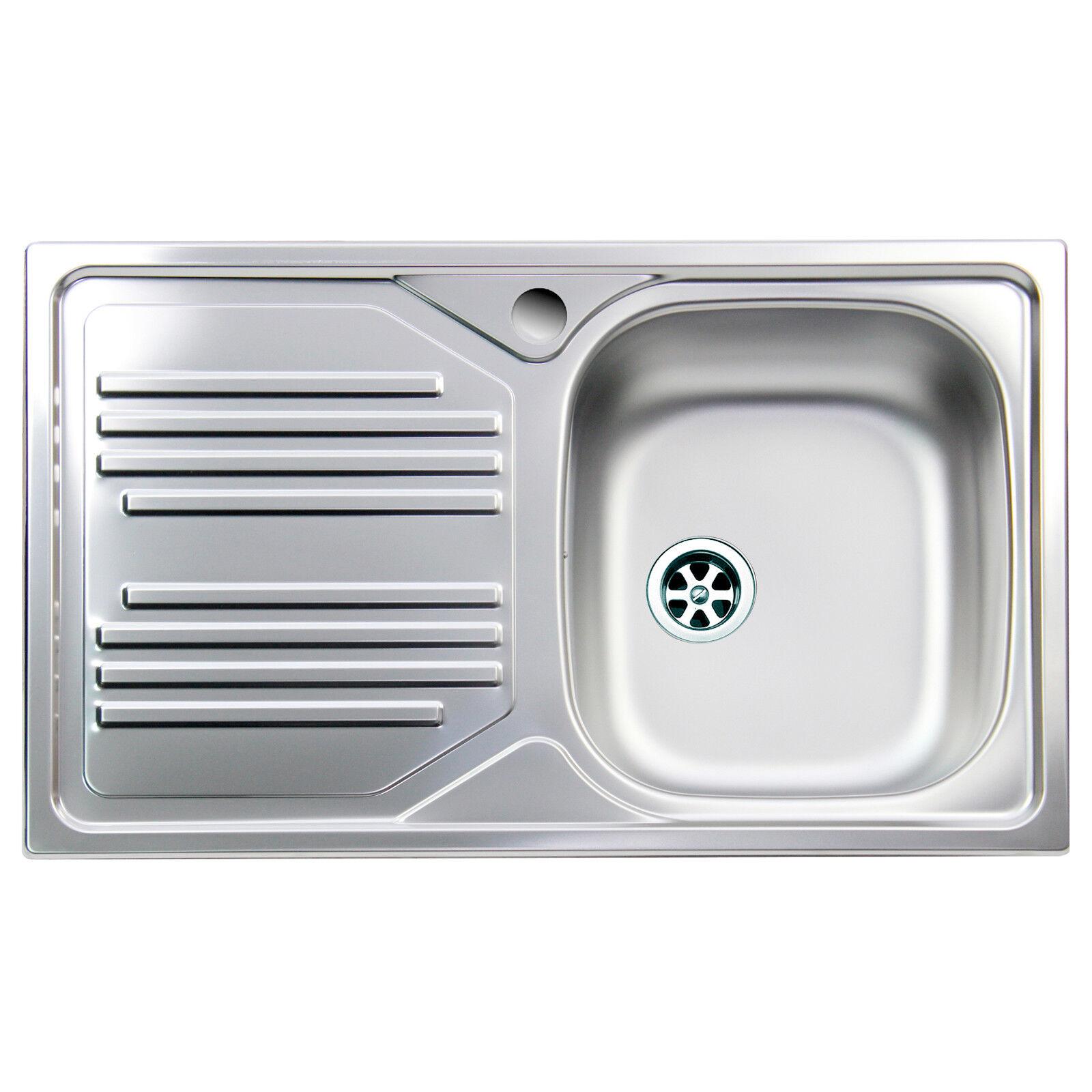 Lavello cucina acciaio inox Apell Atmosfera vasca singola gocciolatoio sinistra