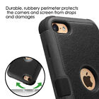 For iPod Touch 5th Generation - BLACK Hybrid Armor High Impact Rugged Case Skin