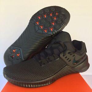 Dettagli su Nike Free Metcon Uomo Croce Scarpe da Ginnastica Taglia 11 Triple Nere