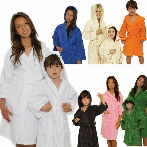 Choose your Color!!! Kid/'s Terry Hooded Bathrobe