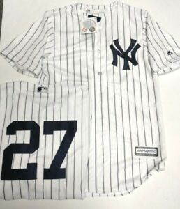 new arrivals ea800 5b3e6 Details about GIANCARLO STANTON YANKEES MENS PINSTRIPE COOL BASE JERSEY  PICK SIZE MAJESTIC NEW
