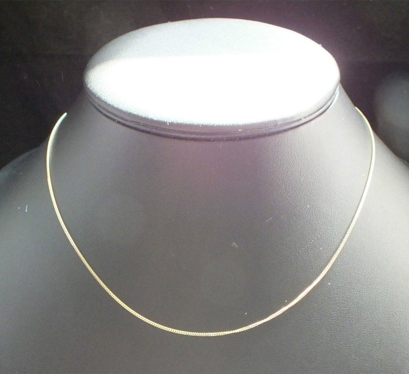 9 carati carati carati oro giallo collana catena o CIONDOLO cordolo 16   18  20  Pollici 1 mm di larghezza 78606b