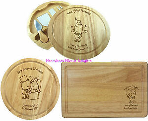 Personalised wooden christmas vegetable cheese board keepsake gifts