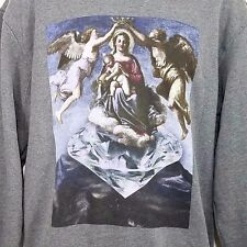 Diamond Supply Co Sweatshirt Crewneck Angels Virgin Mary Gray Mens Size Medium