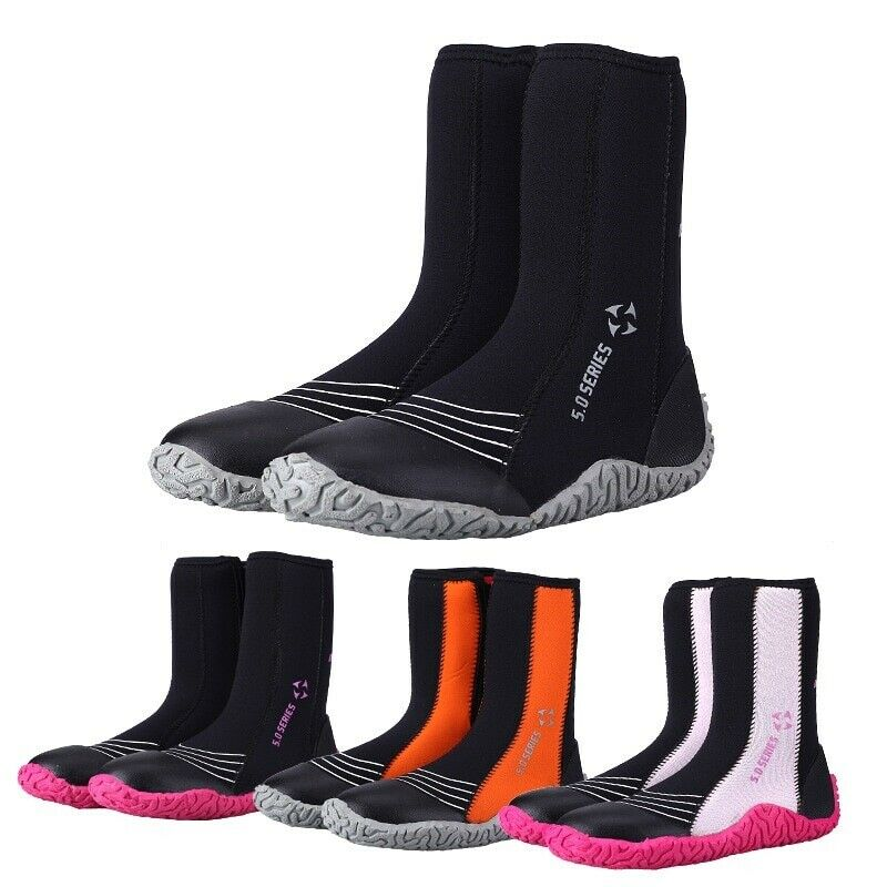 Scuba Diving Boots Rubber Zipper Snorkelling shoes Men Water Sports Accessories