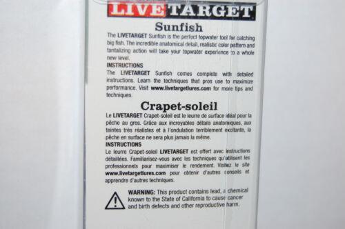 "koppers live target sunfish 3/"" 7//16oz olive metallic bluegill sfh75t560 surface"