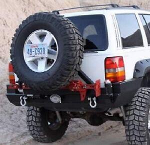 Rock Hard 4x4 Patriot Rear Bumper W Tire Carrier 93 98