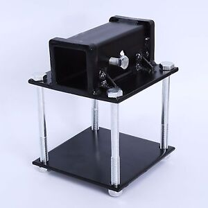 4 Square RV Bumper Receiver Adapter 2 Hitch Mount Bike Rack Cargo Carrier 713095199381