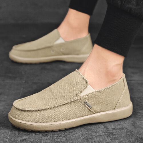 Herrenschuhe Canvas Mokassin Loafers Halbschuhe Weiche Sohle Slipper Komfort D