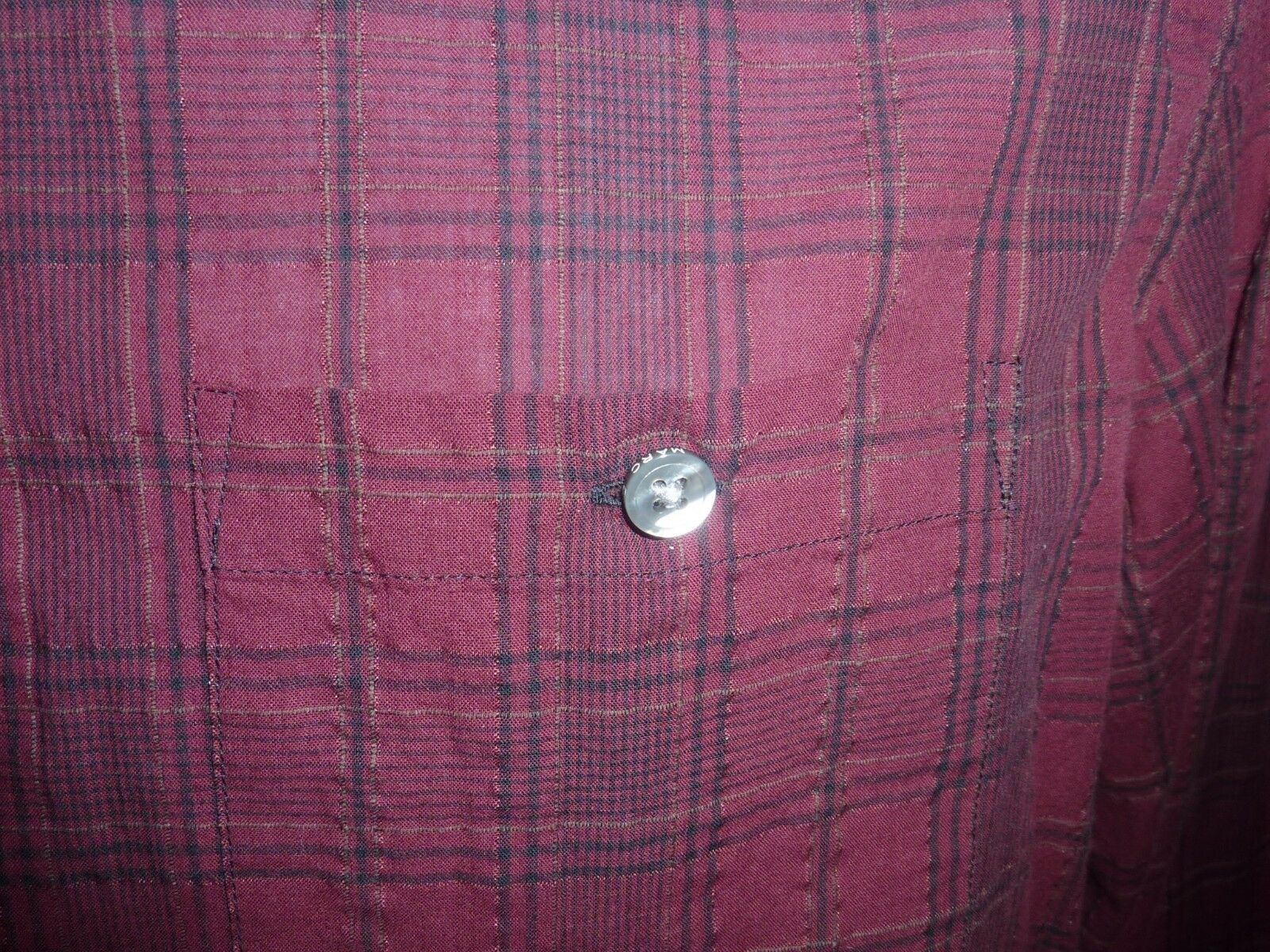 MARC by Man MARC JACOBS Man by MADDER CARMINE Casual Shirt NEW Size Medium Retail  198 a22d47