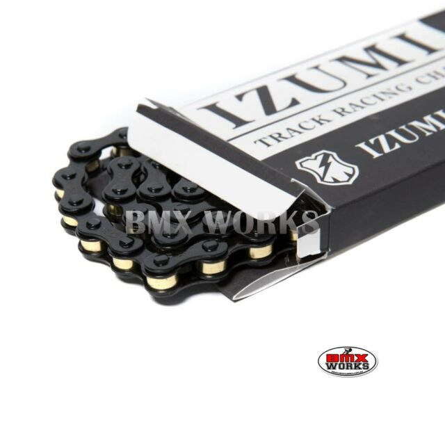 "Izumi Mash X 1/2"" x 1/8"" x 116 Link Black With Gold Bushing Chain - BMX"
