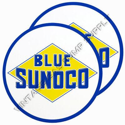 "DC176D Blue Sunoco 2/"" Vinyl Decal"