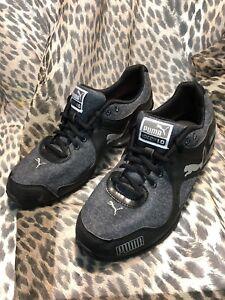 c9abd8a6f8d7 PUMA Women s Black Steel Gray Cell Riaze Cross Trainer Shoes ...