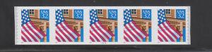 68706-USA-COIL-STRIP-OF-5-Scott-2915A-32-FLAG-OVER-PORCH-PLATE-99999-MNH