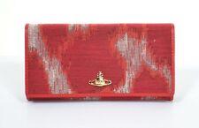 VIVIENNE WESTWOOD RED LEOPARD AFRICA ORB WALLET PURSE BOX BNWT XL