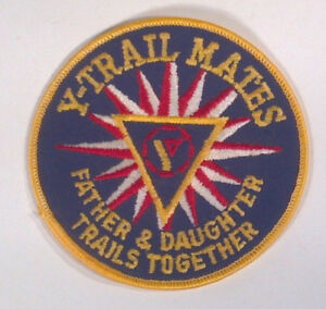 Vintage-YMCA-Y-Trail-Mates-Father-Daughter-Trails-Together-4-034-Patch-Badge