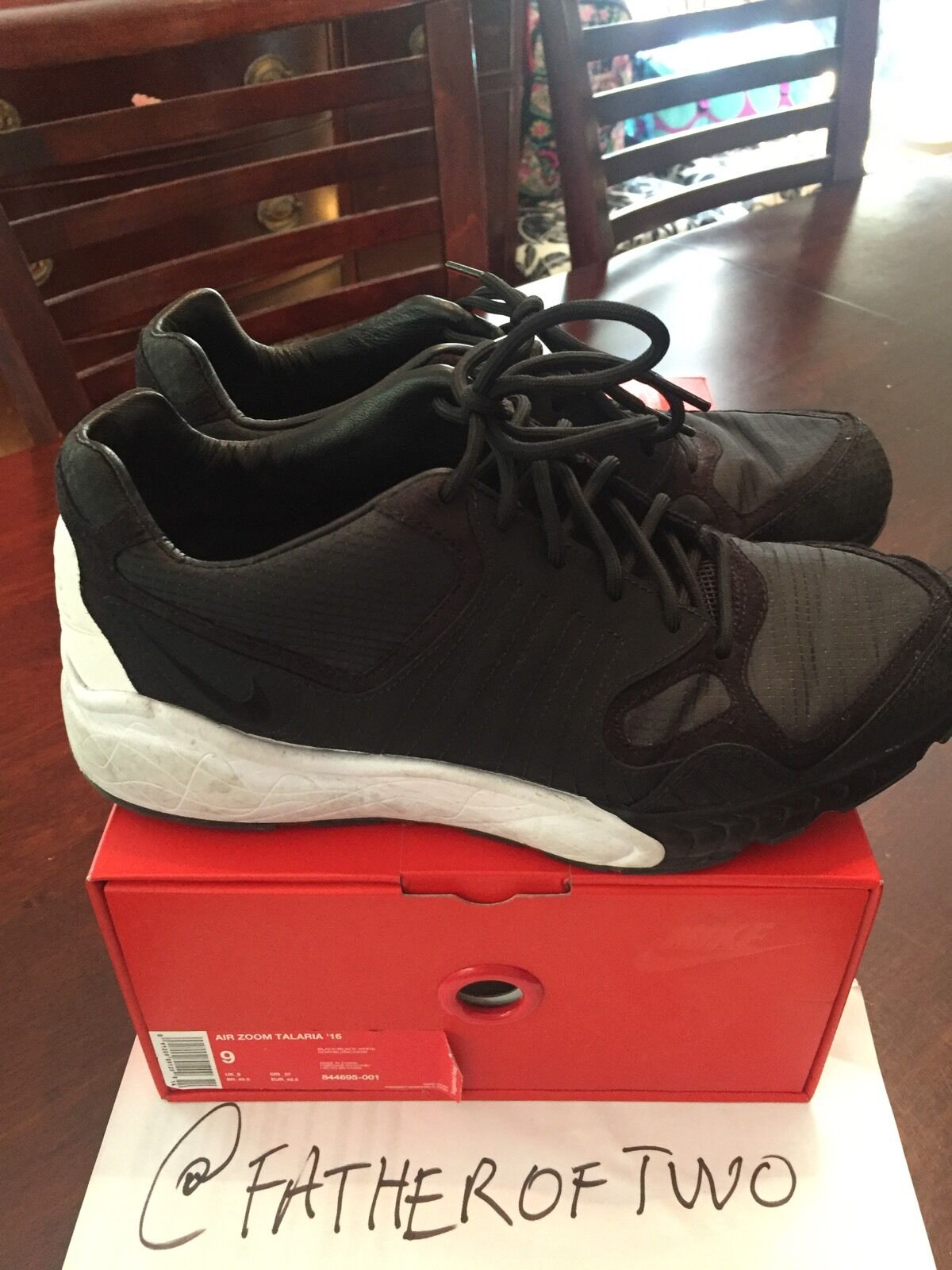Used Authentic Authentic Authentic Nike Zoom Talaria '16 US Size 9 UK Sz 8 Black 2e34a2