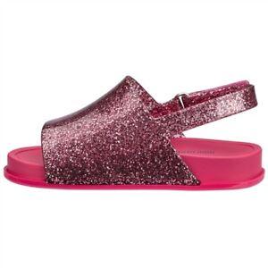 1f90987d0c238 Image is loading Mini-Melissa-pink-glitter-Beach-slide-sandal-babies-