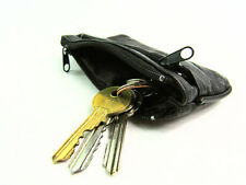New Mens Ladies Super Soft Small Real Leather Coin Purse Pouch Wallet Keyring