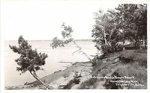 Michigan-MI-RPPC-Postcard-PRUDENVILLE-c1950-HOUGHTON-LAKE-Johnson-039-s-Resort