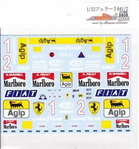 Museum-Collection-1-12-Ferrari-641-2-Decal-for-TAMIYA-D858