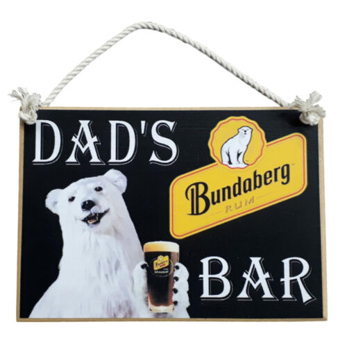 Country Printed Quality Wooden Sign With Hanger Dads Bundy Rum Bar Plaque New