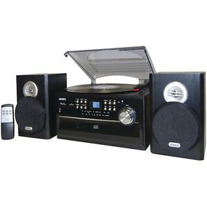 jensen jta475b 3 speed turntable with cd am fm stereo radio cassette rh ebay com Kenwood Audio Shelf Systems Shelf Stereo Systems